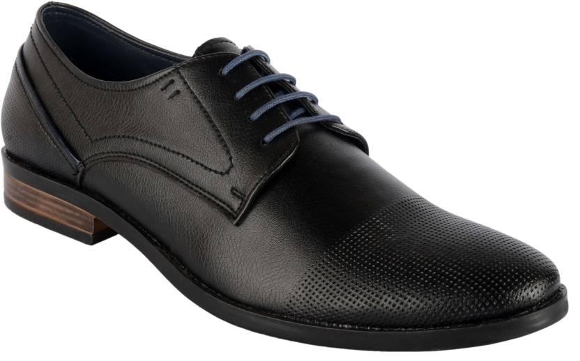 2e4803114c68 Goosebird Men s Leather Oxford Dress Shoes Formal Plain Toe Lace-up Modern Shoes  Lace Up For Men (Black)