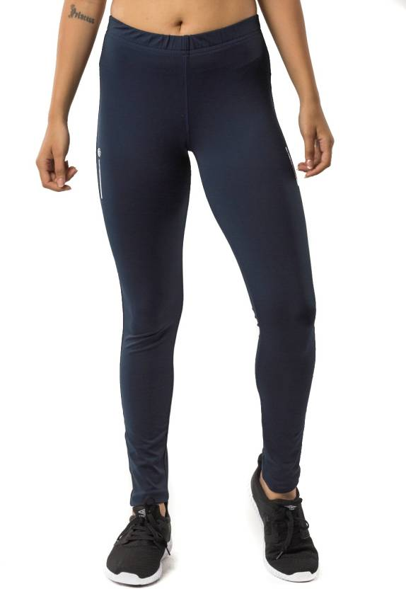 f079830591b Athlete Solid Women Dark Blue Tights - Buy Athlete Solid Women Dark Blue  Tights Online at Best Prices in India