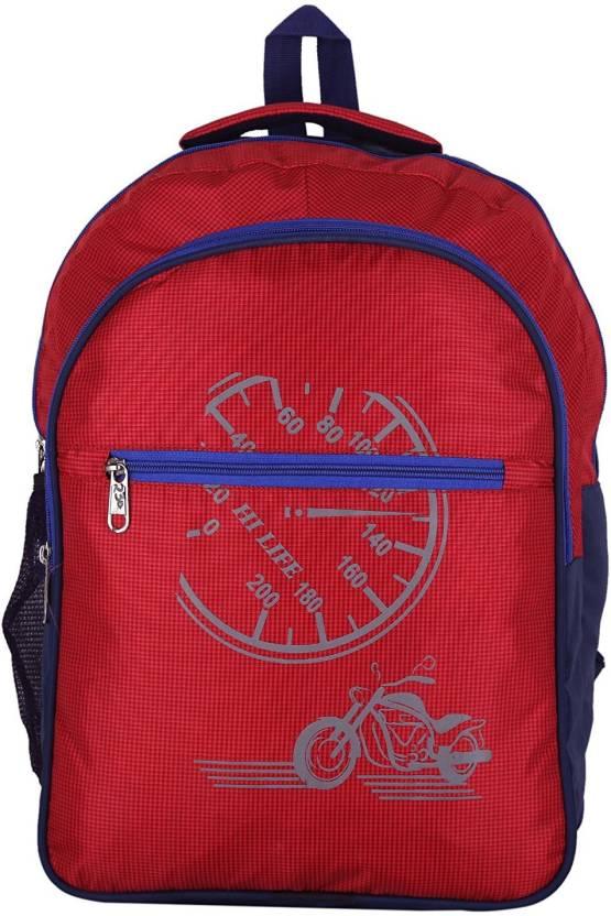 Travalate TR1047-Blue Waterproof School Bag (Red aff417de53c3b