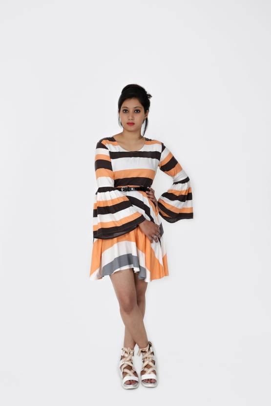 f100d67e4593b Runway Posh Women Skater Multicolor Dress - Buy Runway Posh Women ...