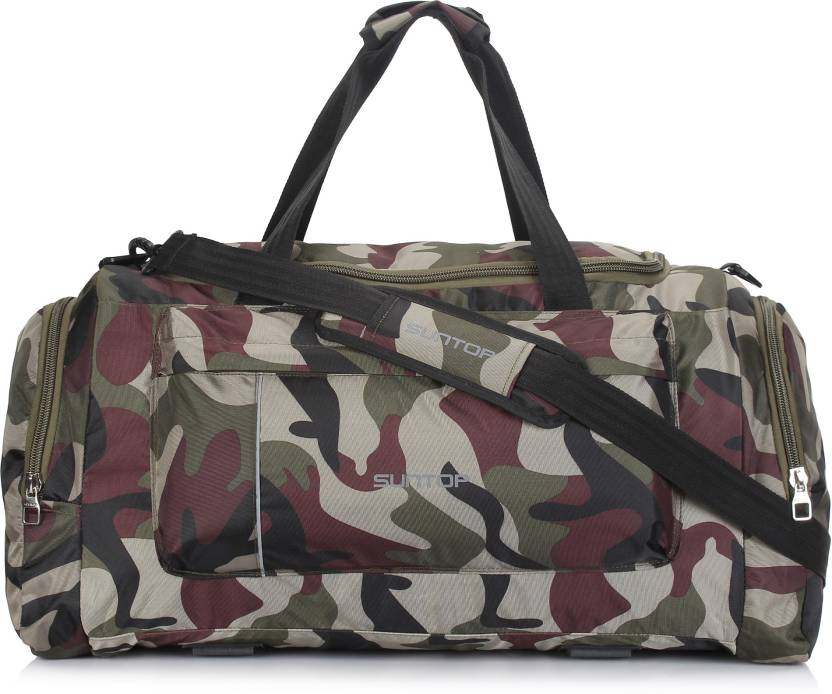 Suntop Alive Large Nylon Polyester 65 litres 25 inches Duffel Bag for Travel  (Army Print) Travel Duffel Bag (Multicolor) fcc4367ca07ea