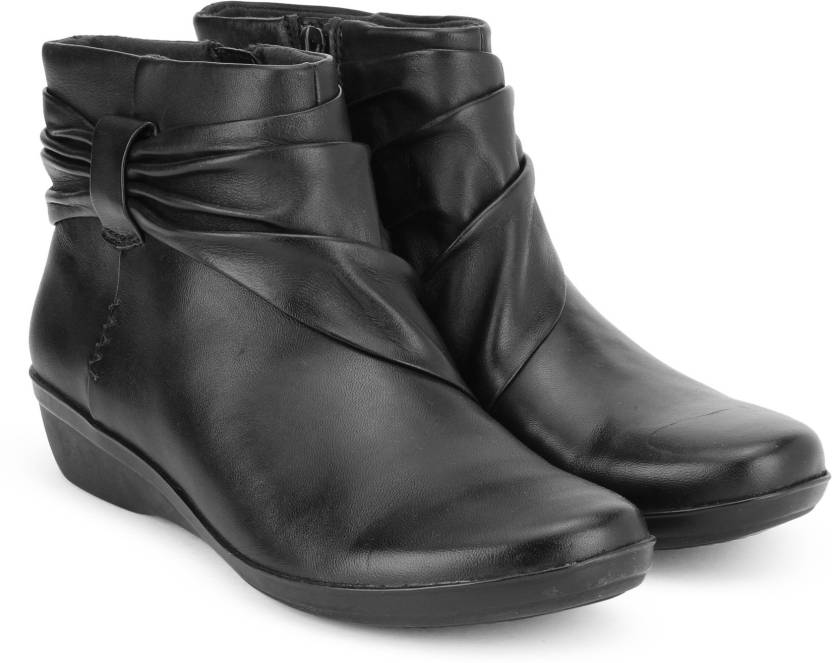 united states exclusive shoes new authentic Clarks Everlay Mandy Black Leather Boots For Women - Buy ...