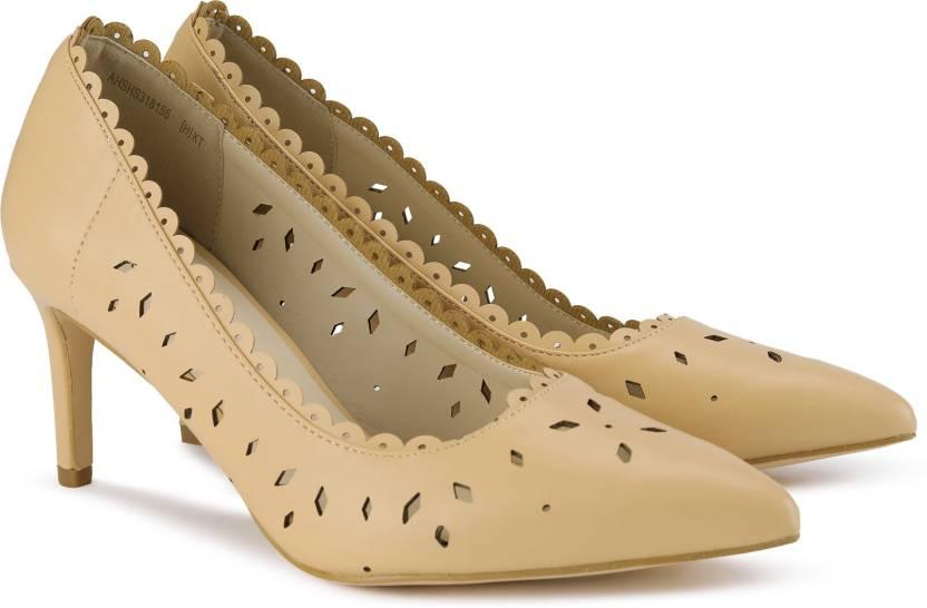 e43d55728f0 Allen Solly KITTEN HEEL Canvas Shoes For Women