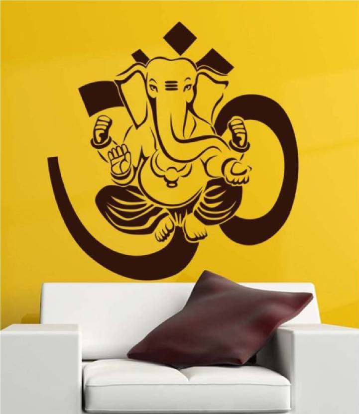 590df690c48 marvellous Large Religious Lord ganesha wall sticker  God ganesh vinyl wall  decal Sticker (Pack of 1)