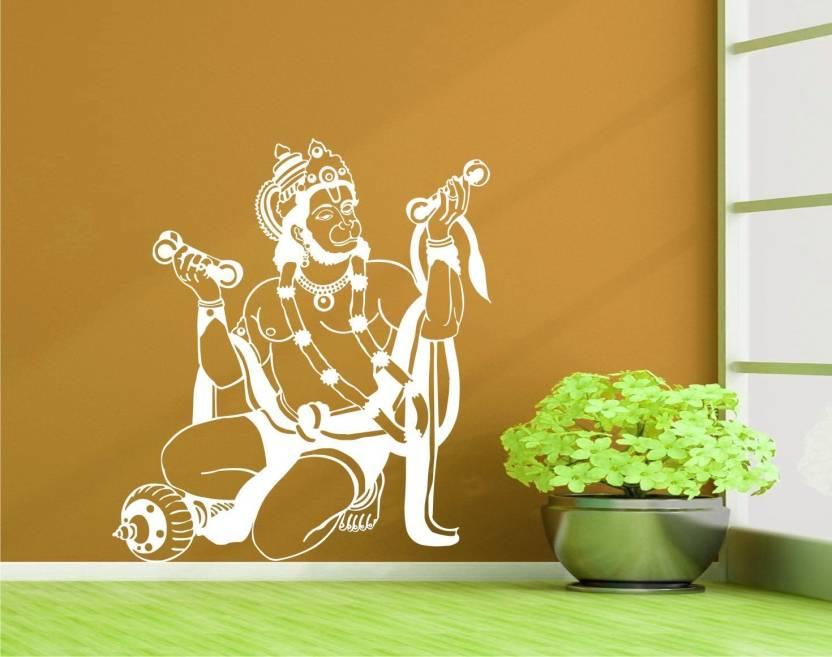 marvellous large religious god hanuman wall sticker/ lord shri