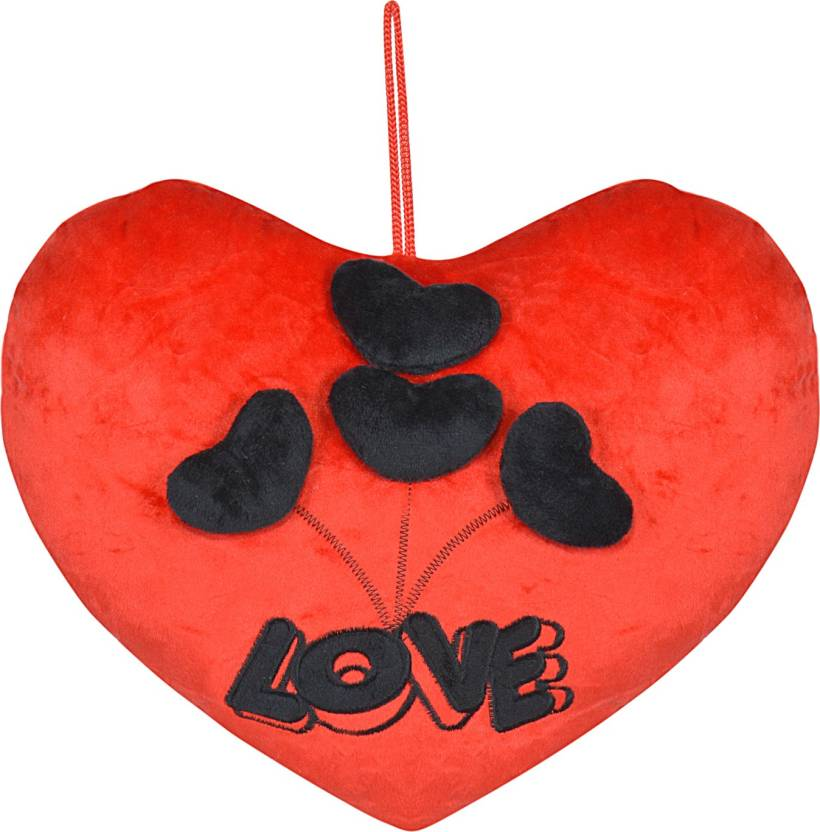 Chords Red Lovely Heart Cushion Stuffed Soft Plush Toy Gift For