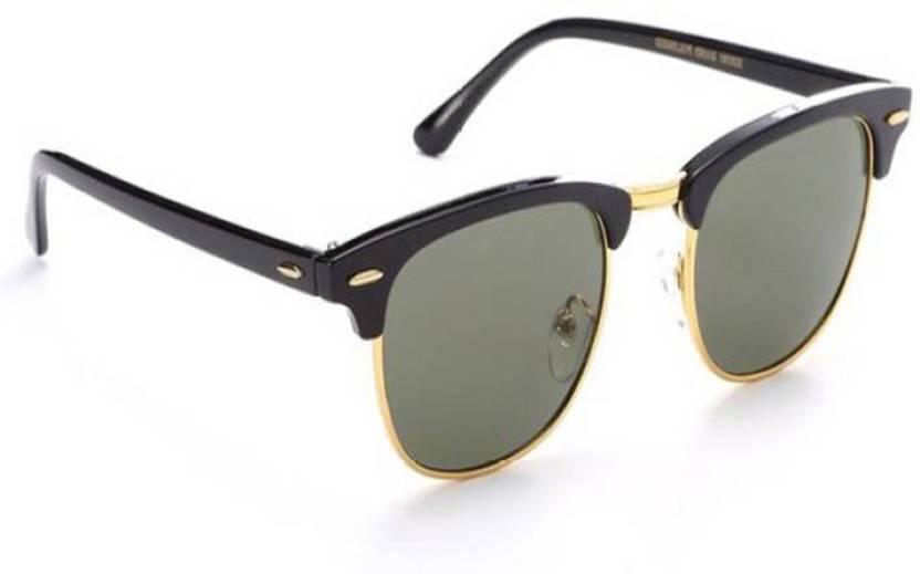 8de60e5fccc1 Buy Oximus Clubmaster Sunglasses Black For Men   Women Online   Best ...