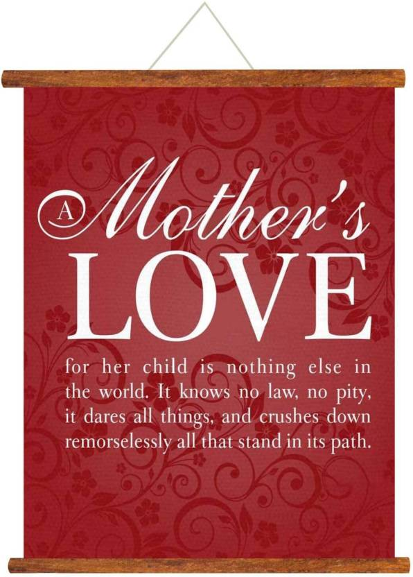 Giftsmate Mothers Day Greeting Cards Love Scroll Card For Mom Wall Hanging Decor Birthday Gifts