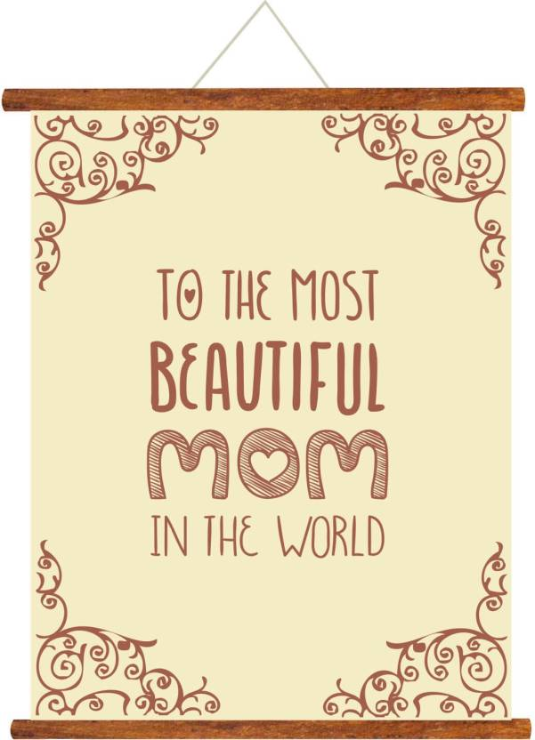 Giftsmate Mothers Day Greeting Cards Most Beautiful Mom Scroll Card