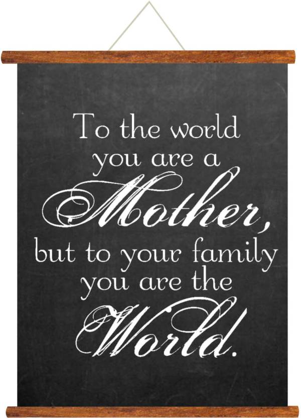 Giftsmate Mothers Day Greeting Cards My Mother World Scroll Card For Mom Wall Hanging Decor Birthday Gifts