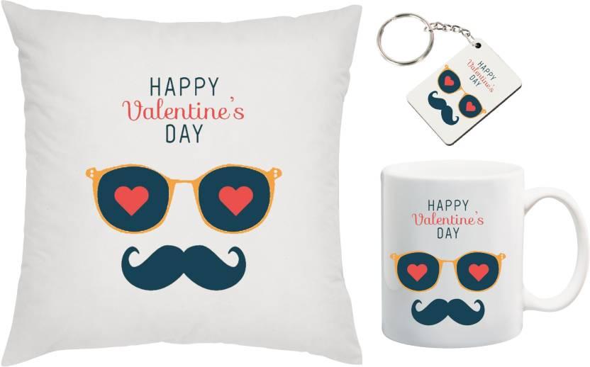 Meyou Printed Cushion Coffee Mug Keyring Valentines Day Gift For
