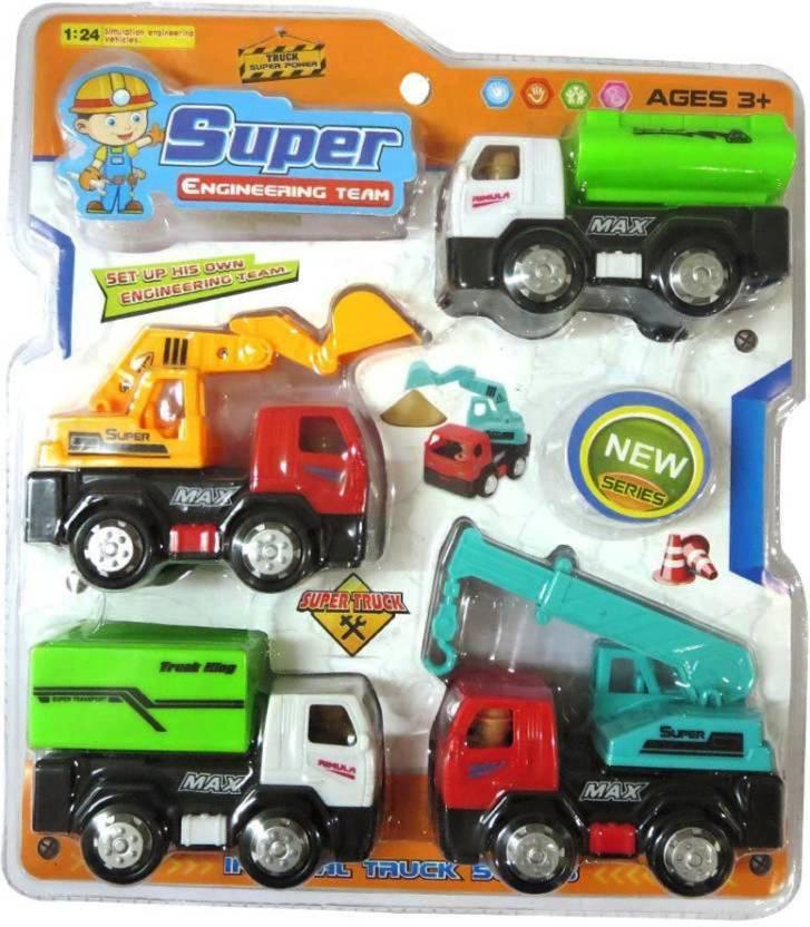 Feminine Style Super Dumper Truck Crane Jcb Toy Multi Color
