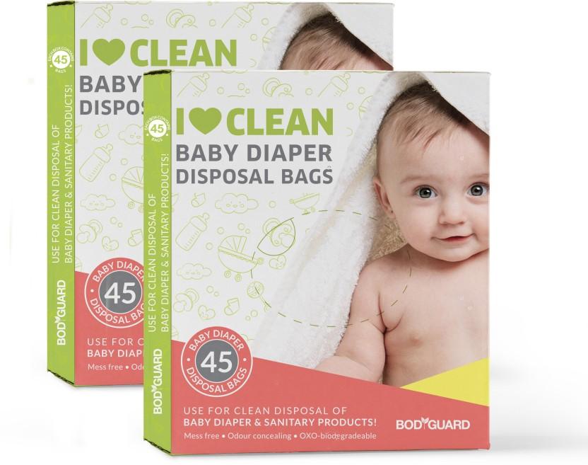 30 Pcs Sirona Baby Diapers & Sanitary Disposal Bag 2 Packs of 15 Bags Each