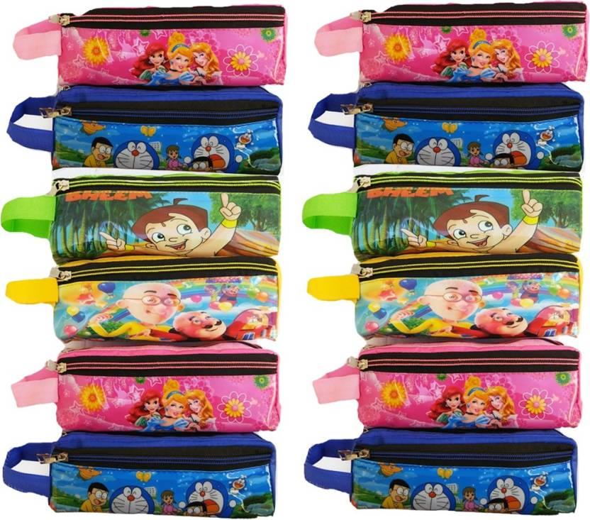 Kieana Multicolor Cartoon Printed Pencil Pouch Birthday Return Gift School Box