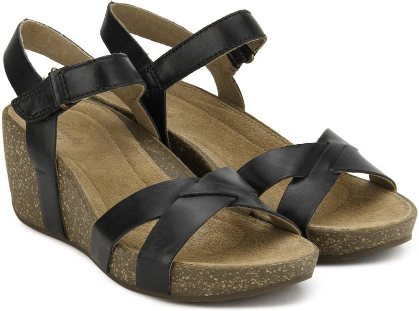 c7001a80e36 Clarks Women Black Leather Wedges - Buy Black Leather Color Clarks Women  Black Leather Wedges Online at Best Price - Shop Online for Footwears in  India ...