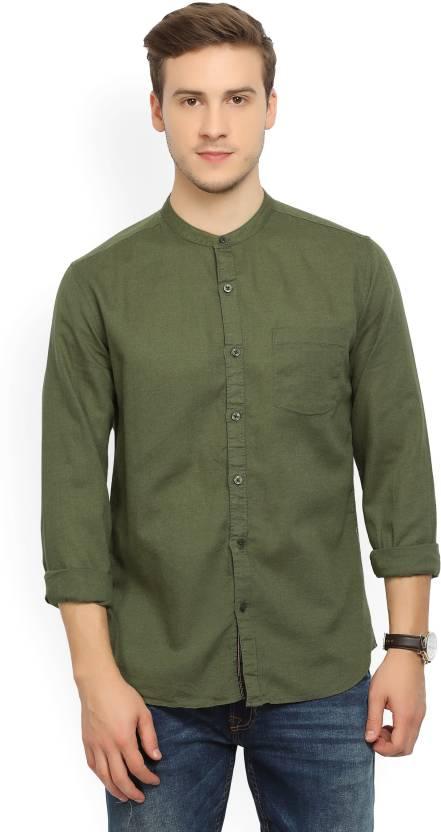 530eac529 Highlander Men's Solid Casual Green Shirt - Buy DARK OLIVE Highlander Men's  Solid Casual Green Shirt Online at Best Prices in India | Flipkart.com