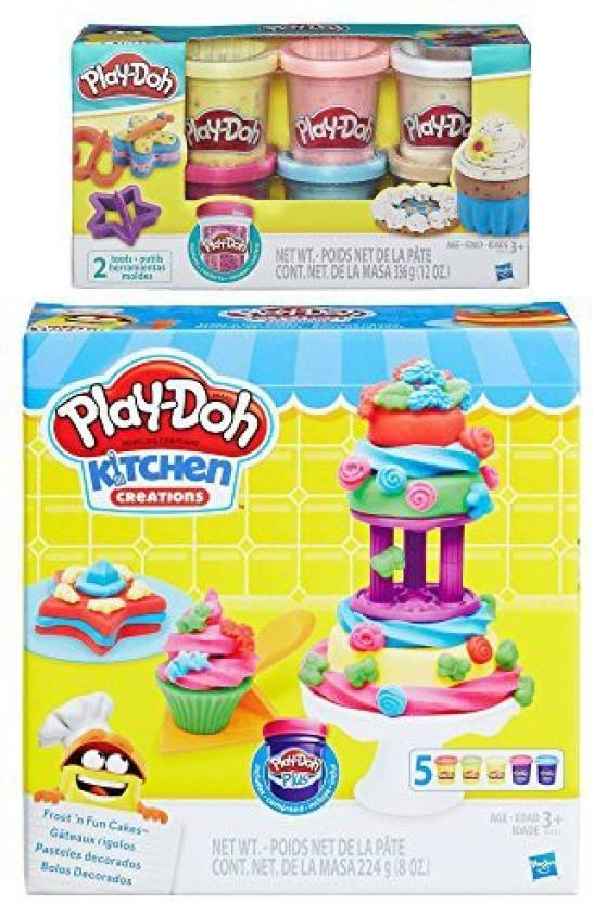 Play Doh Kitchen Creations Frost N Fun Cakes Set Confetti