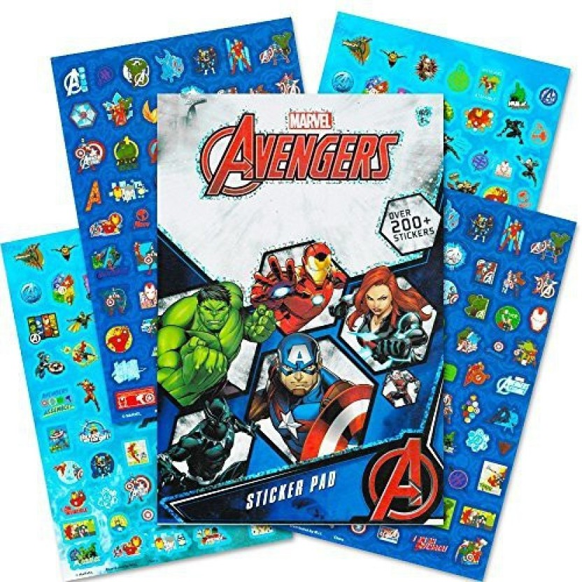 Captain America Thor Iron Man Hulk 10 Avengers End Game Large Stickers