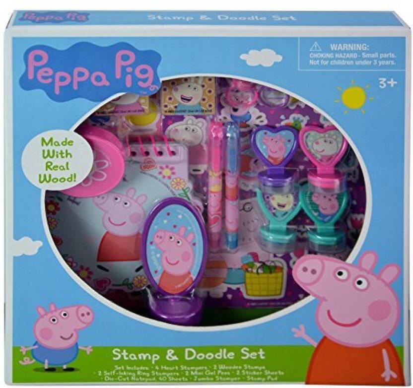 Generic Peppa Pig Stamp And Doodle Set Peppa Pig Stamp And Doodle