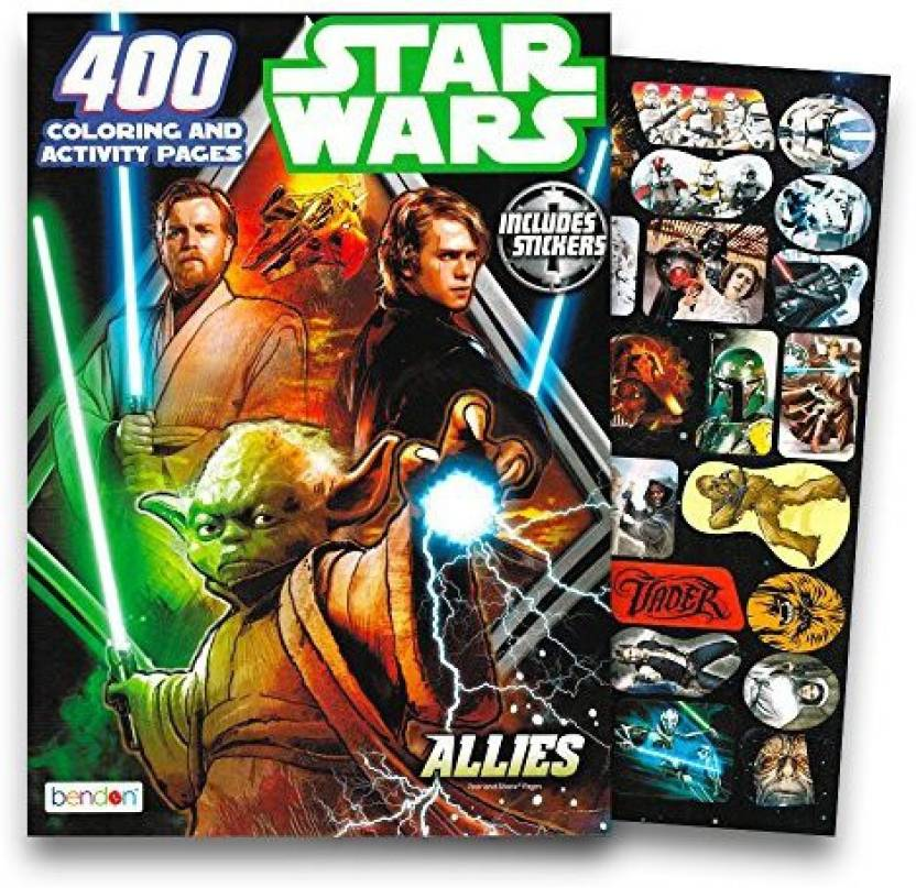 Bendon Inc Deluxe Star Wars Giant Coloring Book For Kids Toddlers ...
