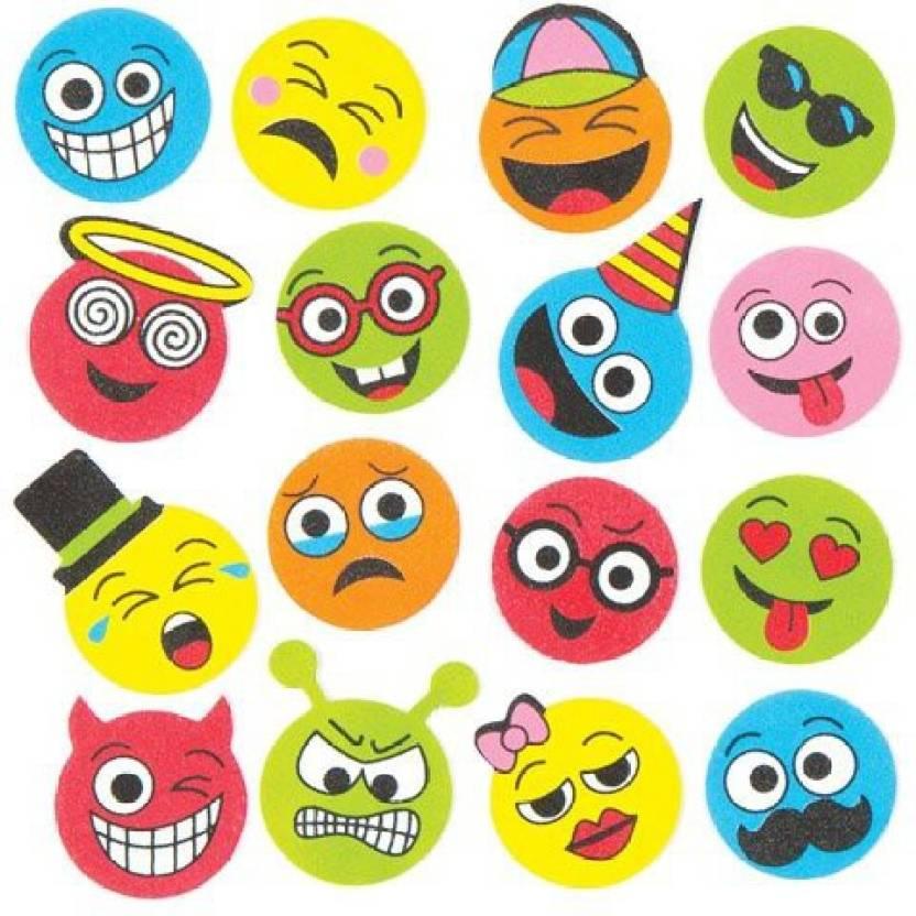 Baker Ross Funny Face Foam Stickers Creative Set Of Foam