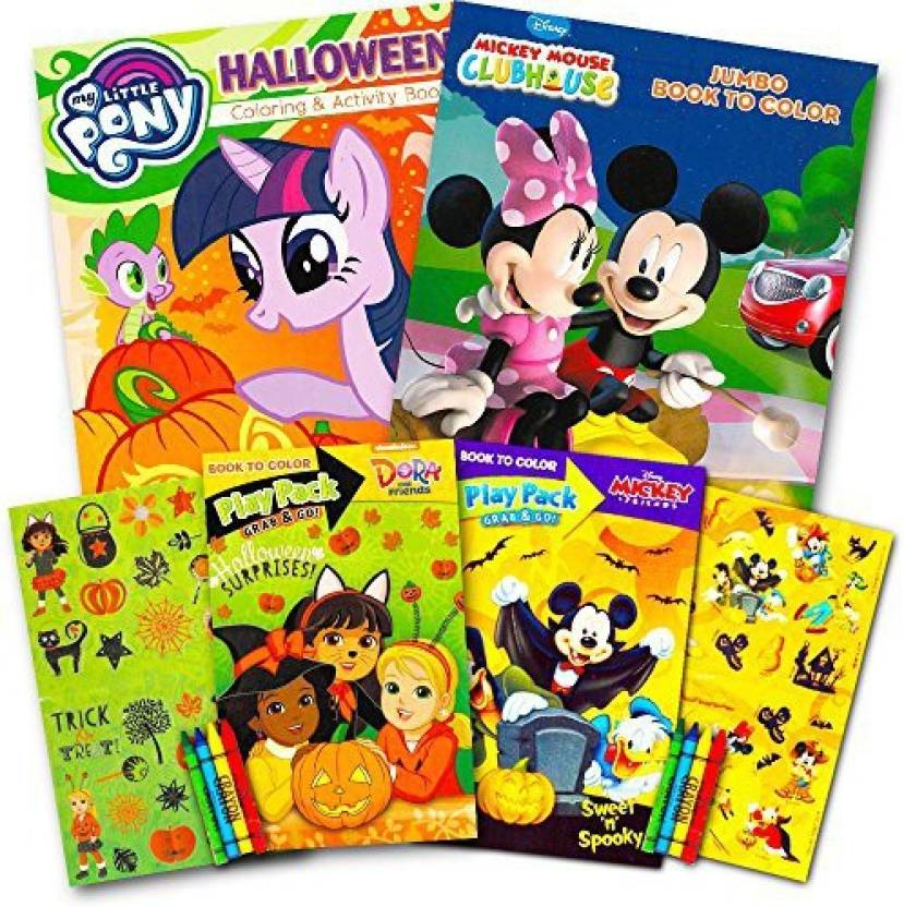 73097eaa Disney Junior Halloween Coloring Book Super Set For Kids Toddlers -- 3  Books Featuring Minnie Mouse, Mickey Mouse, My Little Pony And M - Halloween  Coloring ...