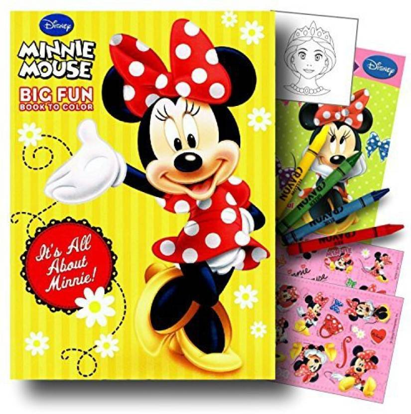 Disney Studios Minnie Mouse Coloring Book Pack With Stickers ...