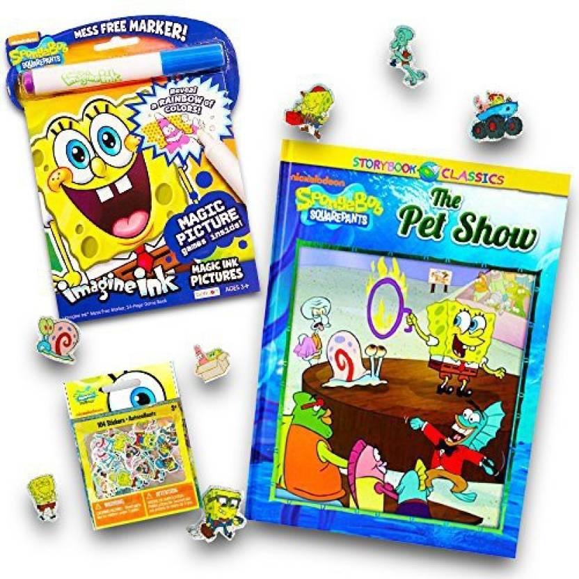 Generic Nickelodeon Spongebob No Mess Coloring Set for Toddlers Kids ...