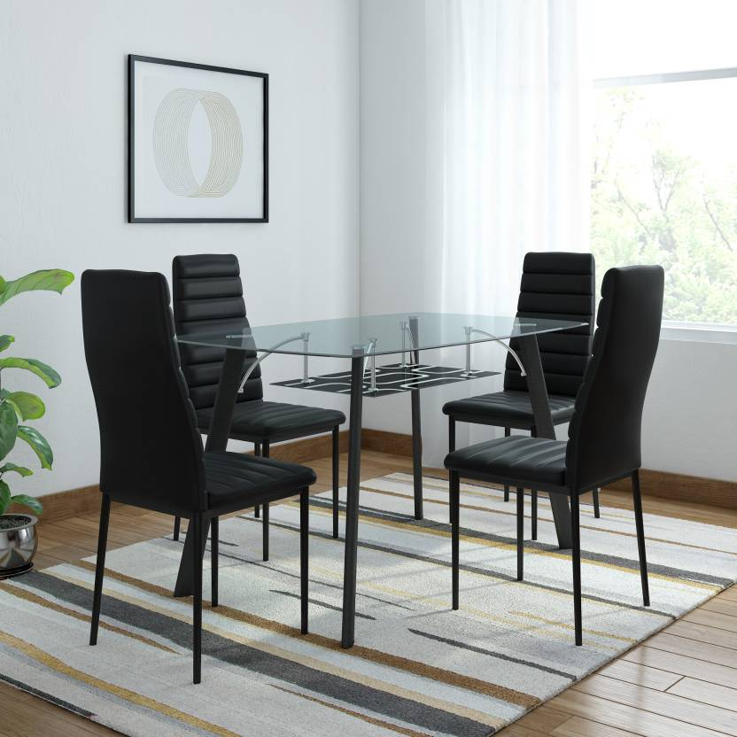 4 seater dining set wooden flipkart royaloak milan glass seater dining set price in india buy