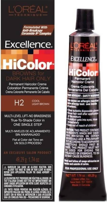 c2074f007a16 L Oreal Excellence Hicolor Hair Color (H2 Cool Light Brown)