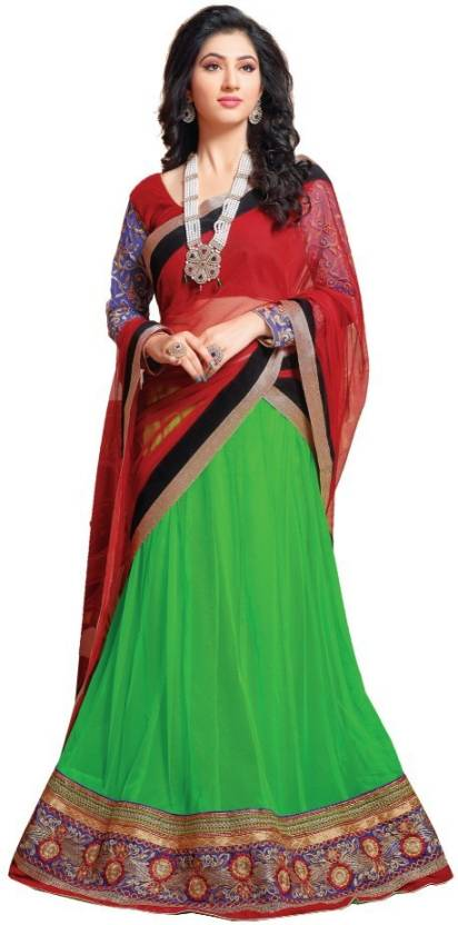 613d0f826c Divastri Embroidered, Embellished Semi Stitched Lehenga, Choli and Dupatta  Set (Multicolor)