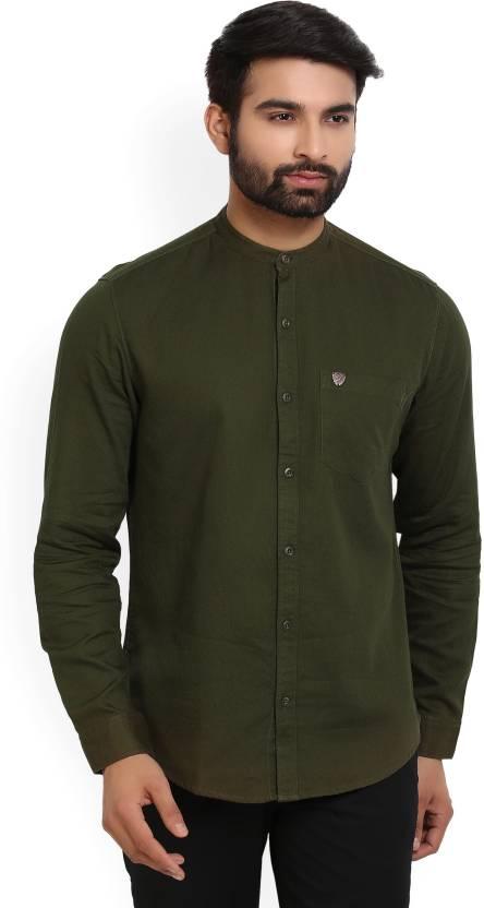 72c35293197f John Players Men's Self Design Casual Green Shirt - Buy Dark Olive John  Players Men's Self Design Casual Green Shirt Online at Best Prices in India  ...