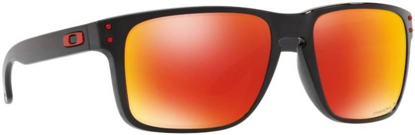 93548ea7813 Buy Oakley HOLBROOK XL Rectangular Sunglass Orange For Men Online ...