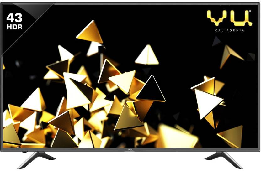 Best Smart TV's Under 50000Rs - Vu 108cm (43 inch) Ultra HD (4K) LED Smart TV  (9043U)