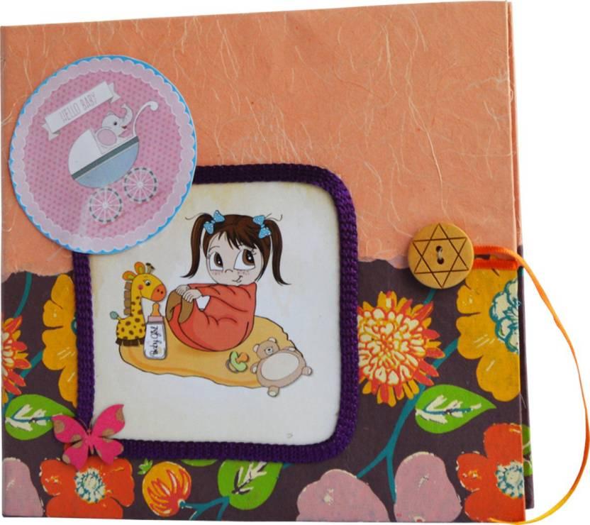 Natal Crafts Handmade Newborn Baby Girl Theme Photo Album Scrap Book