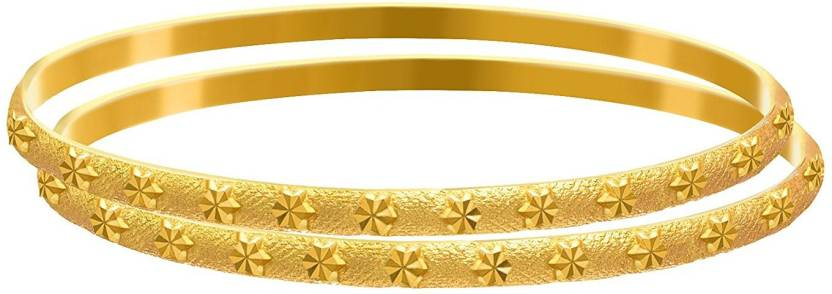 Jfl Jewellery For Less Copper Gold Plated Bangle Set