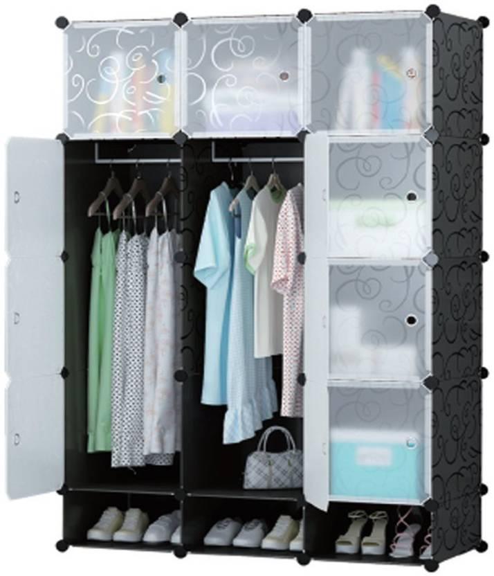 Continental Multi Use Clothes Organizer Bookcase Storage Cabinet Wardrobe Closet 110 5 X 47