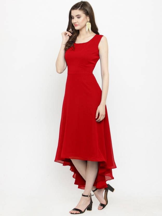 c7c37ec56f09 Just Wow Women's High Low Red Dress - Buy Just Wow Women's High Low Red  Dress Online at Best Prices in India | Flipkart.com