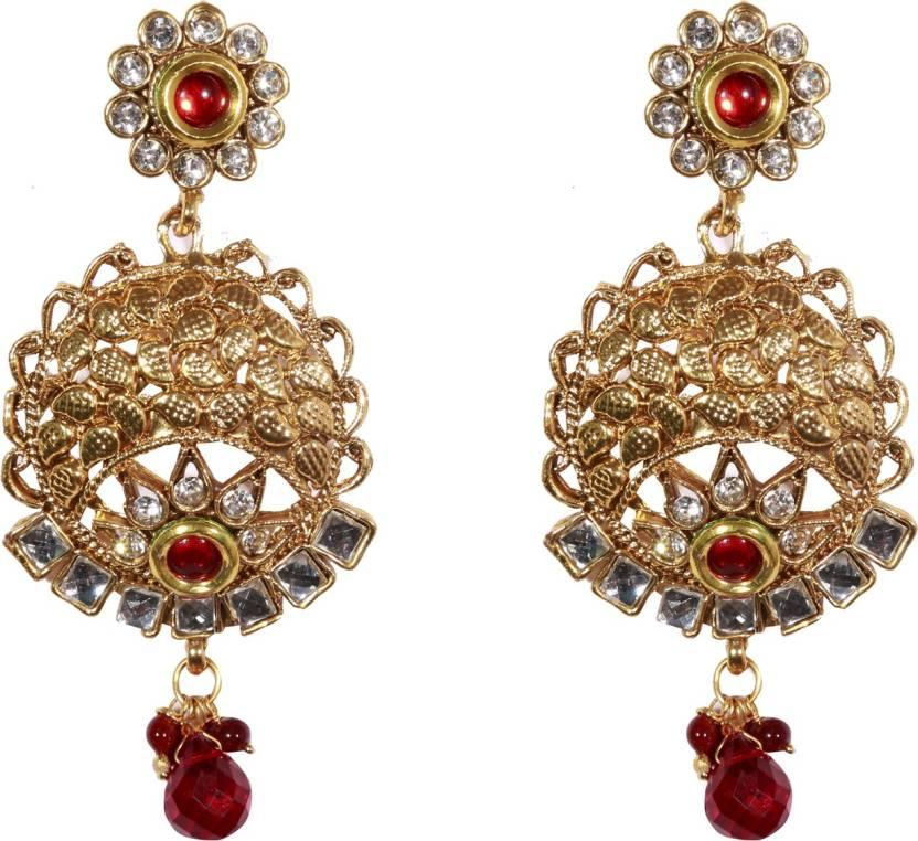 8329e918d9b Flipkart.com - Buy loveyoufashion Loveyoufashion Gold Plated Stunning  Stylish Red stone Earrings  Earrings for Women Ruby Copper Drop Earring  Online at Best ...