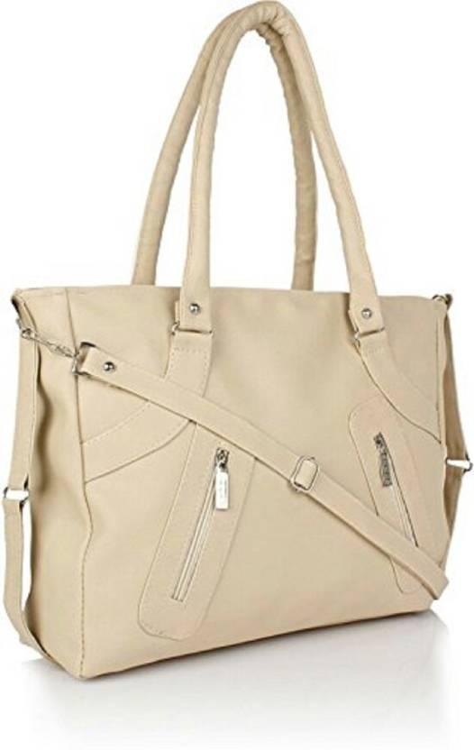 Buy Mango Star Hand Held Bag Cream Online Best Price In India