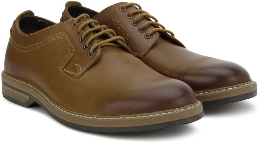 b043b78d9 Clarks Pitney Walk Cognac Leather Formal Shoes For Men