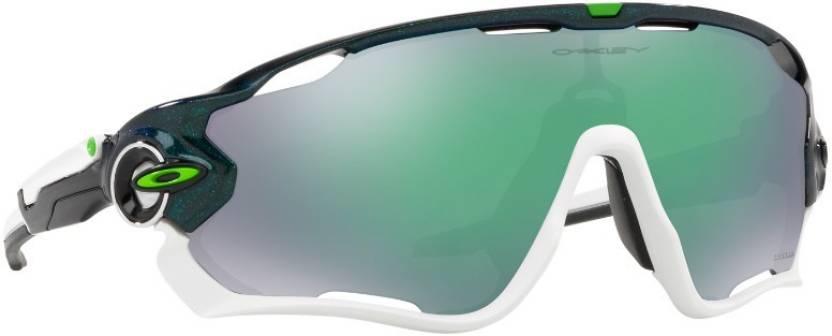 b11ba50609b Buy Oakley JAWBREAKER Sports Sunglass Green For Men Online   Best ...