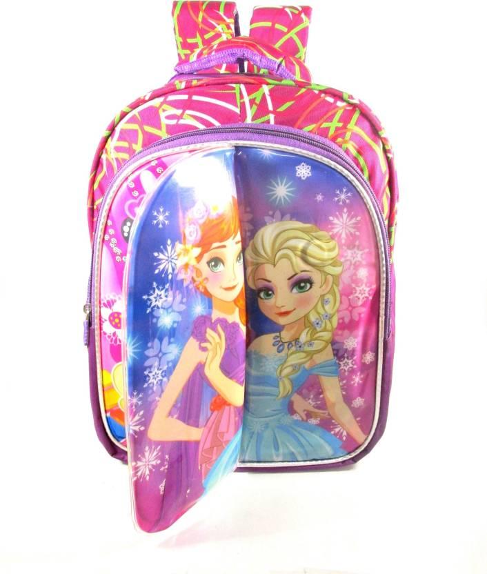 49dbea6808 Ehuntz Frozen foldable sheet Disney Princess school Bag (6 to 12 years)  (EH1021) Waterproof School Bag (Multicolor
