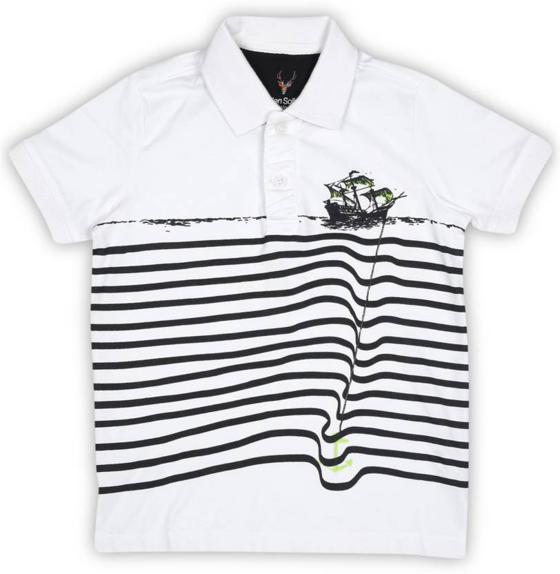 7800feed6 Allen Solly Junior Boy s Striped Cotton T Shirt Price in India - Buy ...
