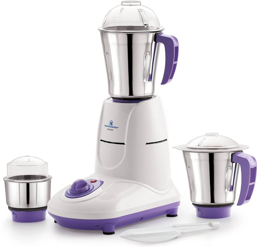 0f5cbcfd8f Kelvinator KMG 5535 550 Watt 3 Stainless Steel Jars 550 W Juicer Mixer  Grinder (White, Purple, 3 Jars)
