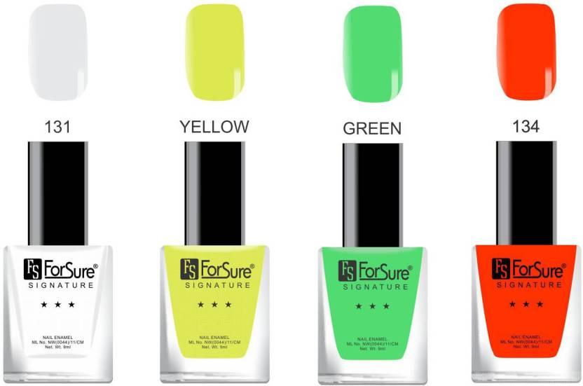 Forsure Signature Matte Nail Polish White Yellow Green