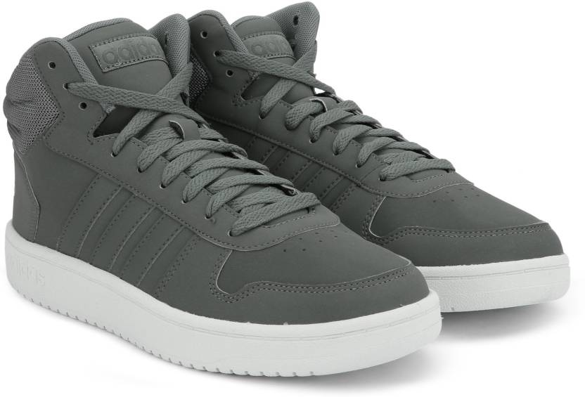 pretty nice 4829c cc16d ADIDAS HOOPS 2.0 MID Basketball Shoes For Men (Grey)