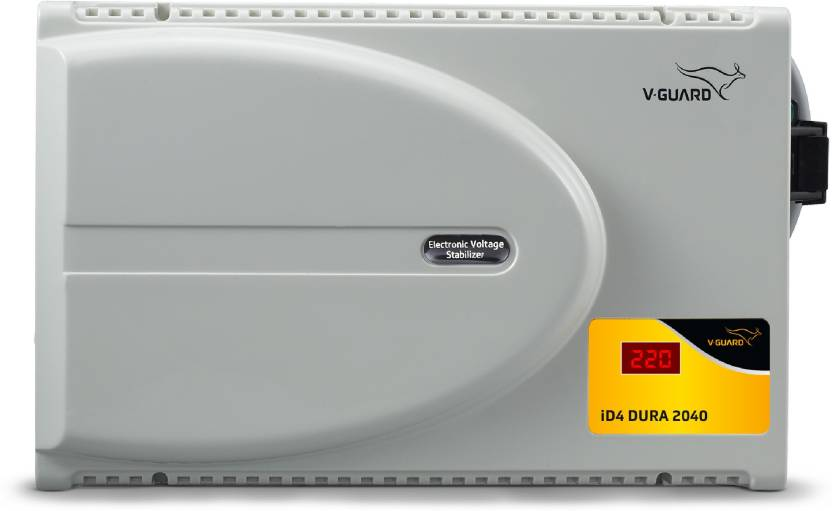 V-Guard iD4 Dura 2040 with Digital Display for 1.5 Ton Inverter A.C (160V To 280V) Voltage Stabilizer