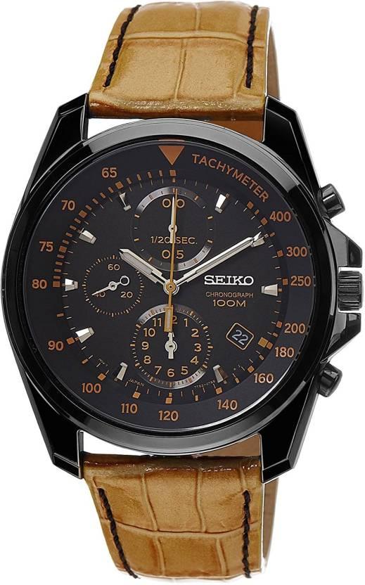45861f63c Seiko Black8172 Seiko Chronograph Black Dial Black PVD Tan Leather Mens  Watch SNDD69 Watch - For Men - Buy Seiko Black8172 Seiko Chronograph Black  Dial ...