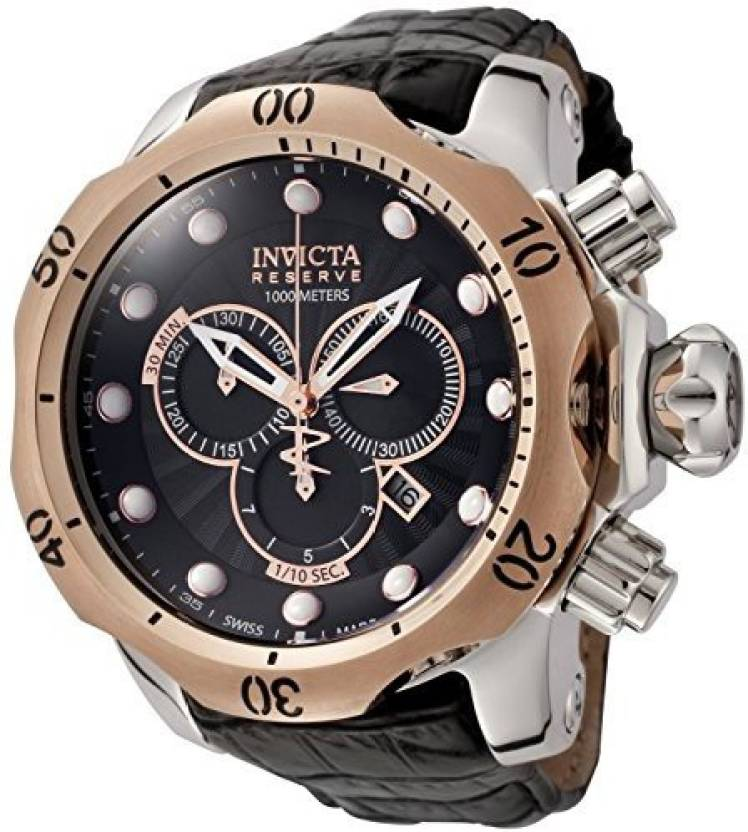 b37d88efb Invicta black5019 Invicta Men's 0360 Reserve Collection Venom Chronograph  Black Leather Watch Watch - For Men - Buy Invicta black5019 Invicta Men's  0360 ...